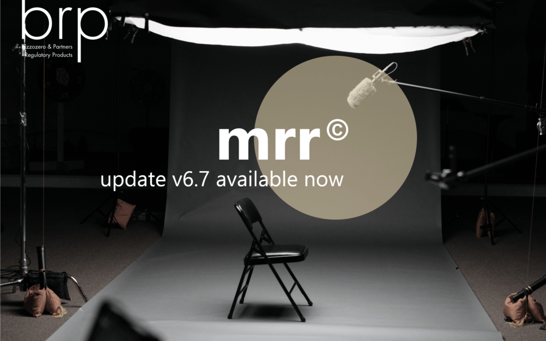 mrr© – New version of the regulatory library (version 6.7)
